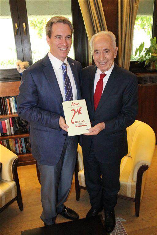 דב סיידמן עם הנשיא פרס, מרץ 2014