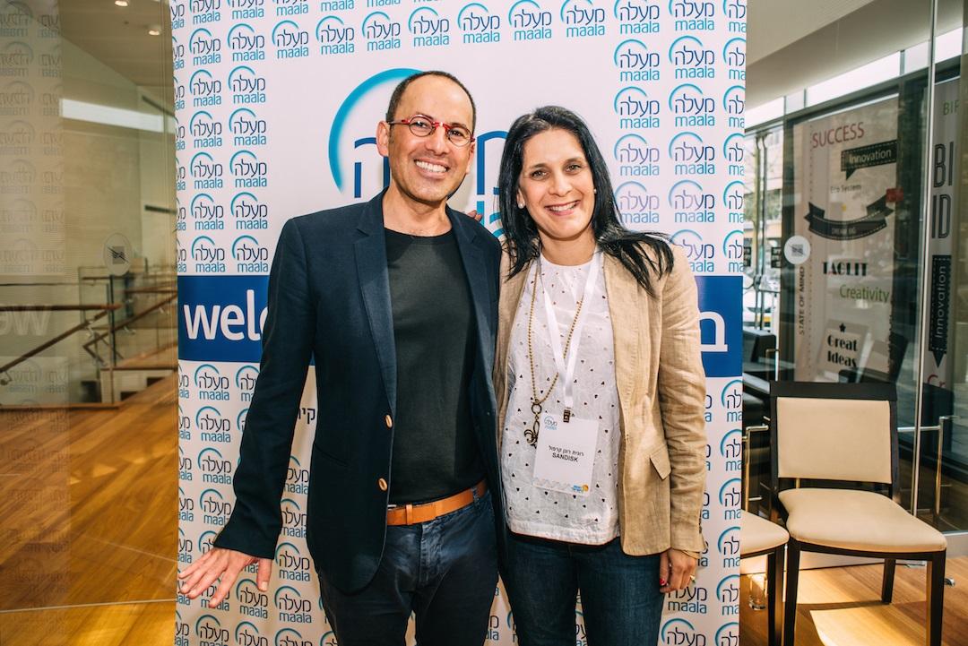 רונית רונן קרפול מסאנדיסק ומומו מהדב, מנכ״ל ארגון מעלה